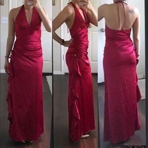 Blondie Nites wine red burgundy formal prom dress